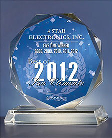 4 Star Electronics - Best of 2012 San Clemente Award